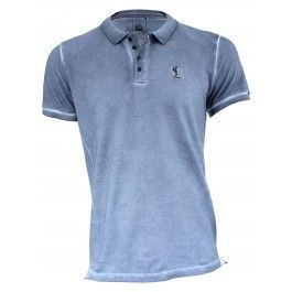 Religion Clothing Polo Tee in blue shadow | Religion Clothing