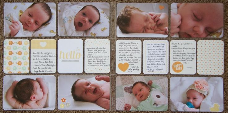 """second baby-spread """"1 month old"""" #stampinup # projectlife #plxsu"""