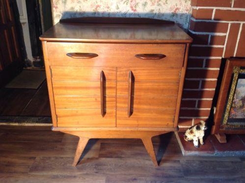 Vintage Egomme G Plan Sideboard/ Bureau, Drawers, Cupboard Shelf