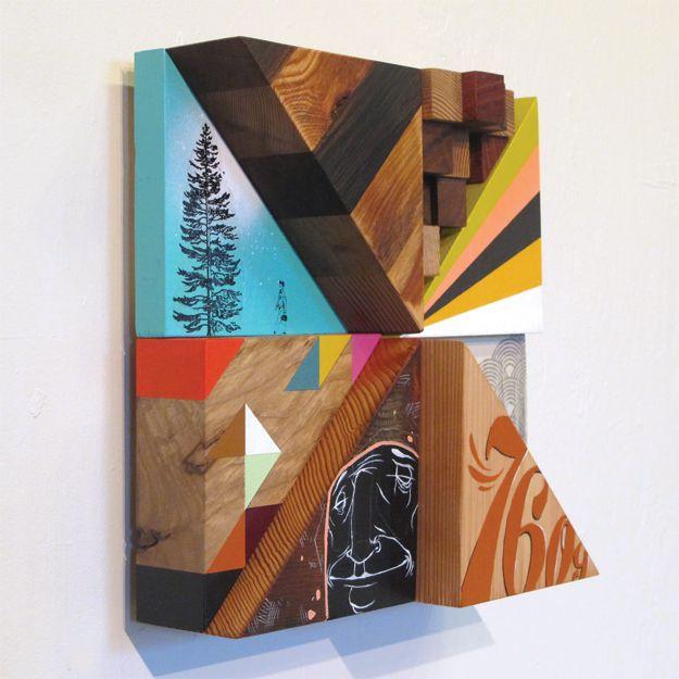 Blaine Fontana - sculpture and painting meet half way.