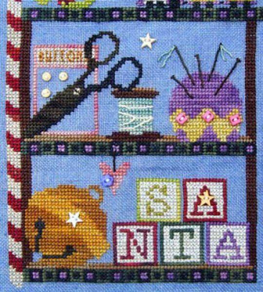 Santa Amp 039 S Cabinet Mending Kit Cross Stitch Christmas Cross Stitch Cross Stitch Designs