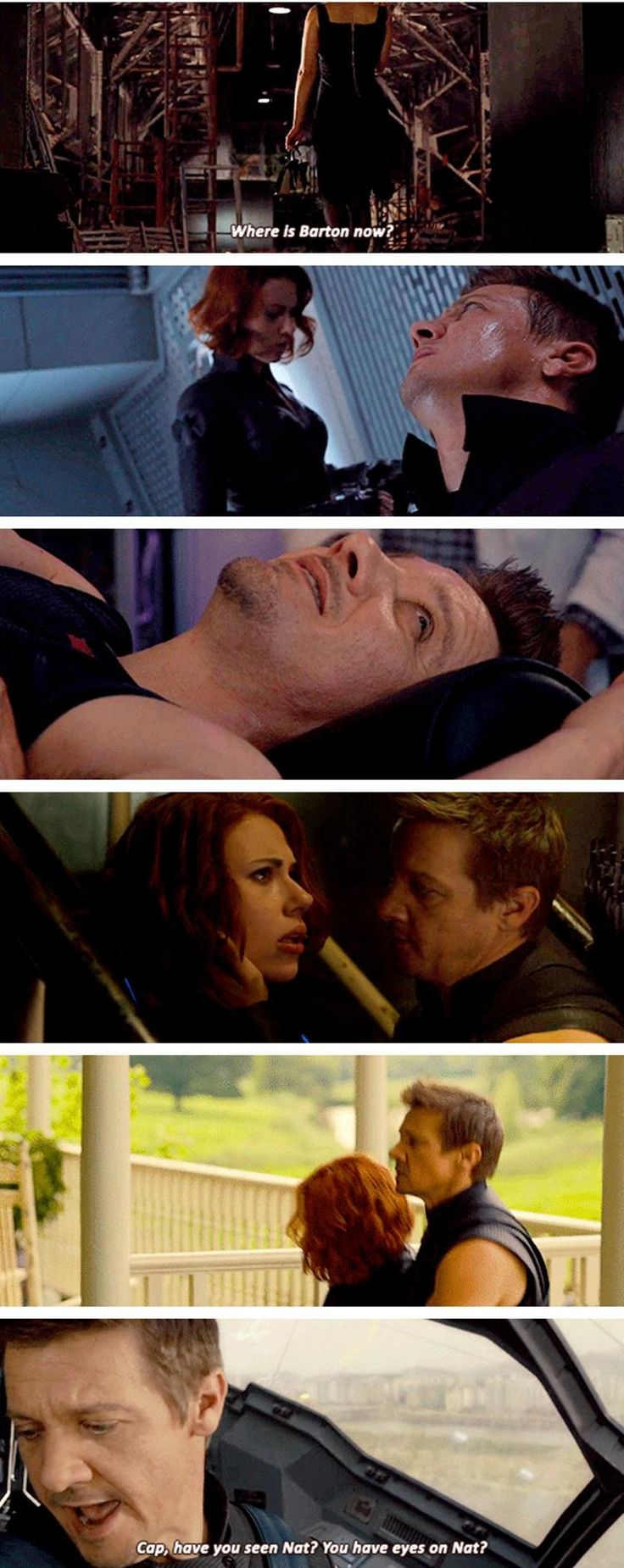 Natasha and Clint Watching Over Each Other