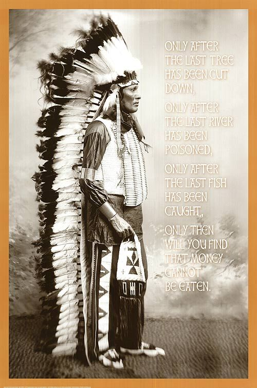 cree indians | INDIAN- CREE INDIAN PROPHECY POSTER ]