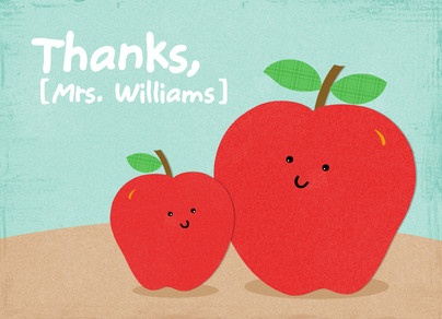 Big Apple Little Apple Teacher's Day Card