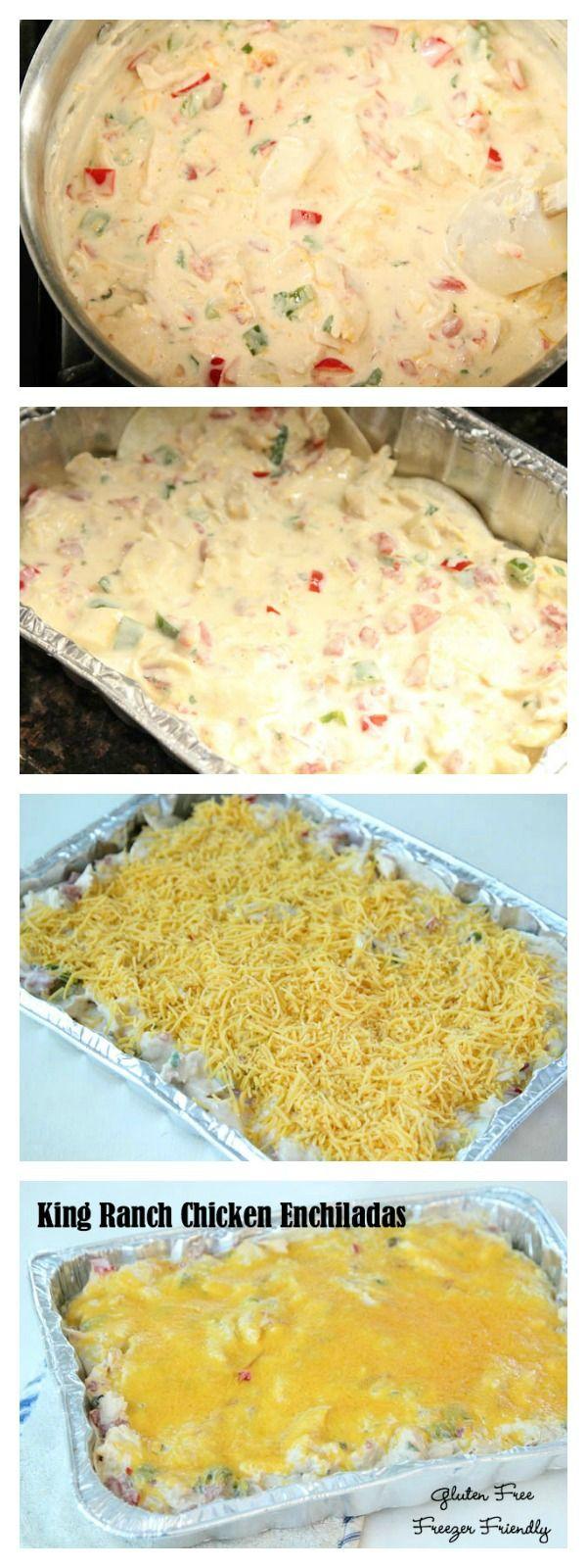 King Ranch Chicken Enchiladas ~ gluten free and freezer friendly! | 5DollarDinners.com