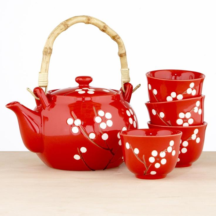 White Blossom Tea Set | World Market