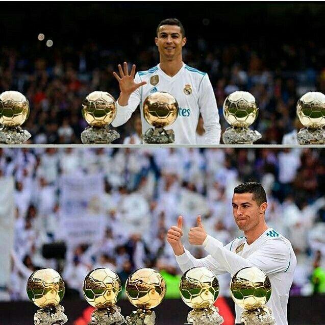 Ballon D Or Presentation At Bernabeu Cristiano Ronaldo