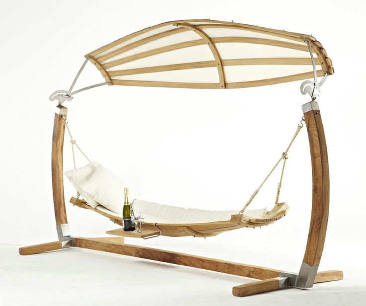 Amazing design, oak hammock, perfect for drink in your garden!!