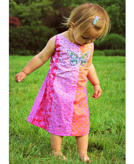 Kids' Butterfly Boogie Dress - Panel patchwork: Kids Style, Kids Fashion, Kiddie Clothing