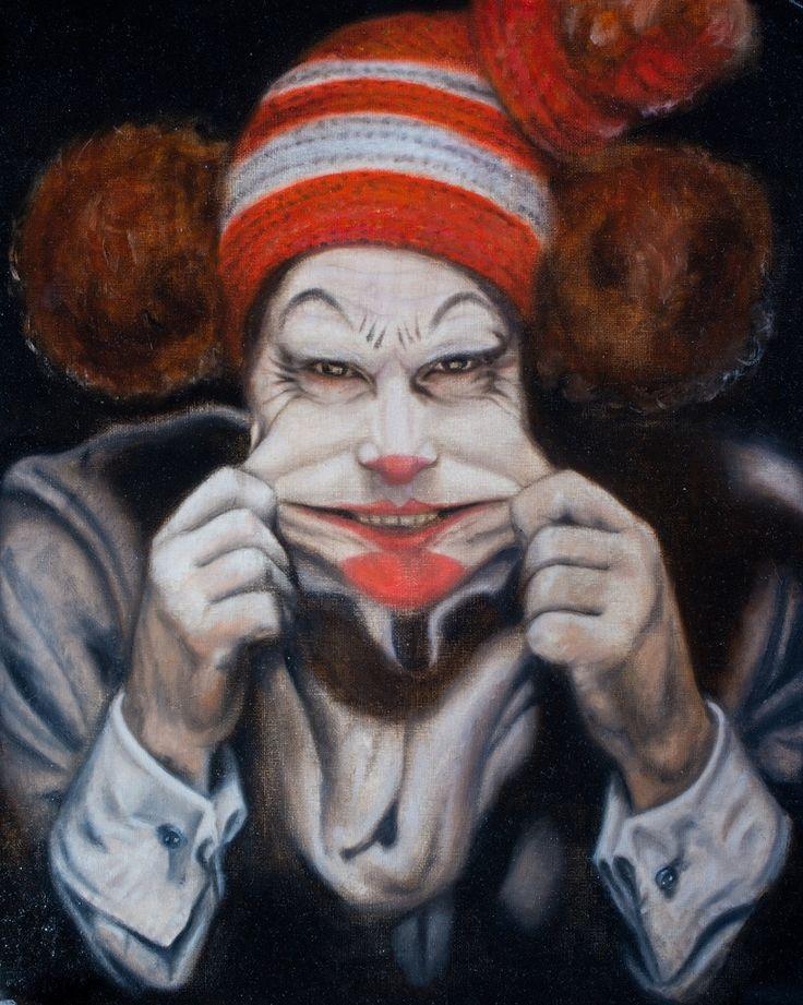#рисунок #картина  #искусство  #art #painting #drawing #clown Painting by Yulia Malahova https://www.instagram.com/amita_art