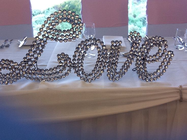Bridal table sign of love hire from www.newminsterfunctiondesign.com