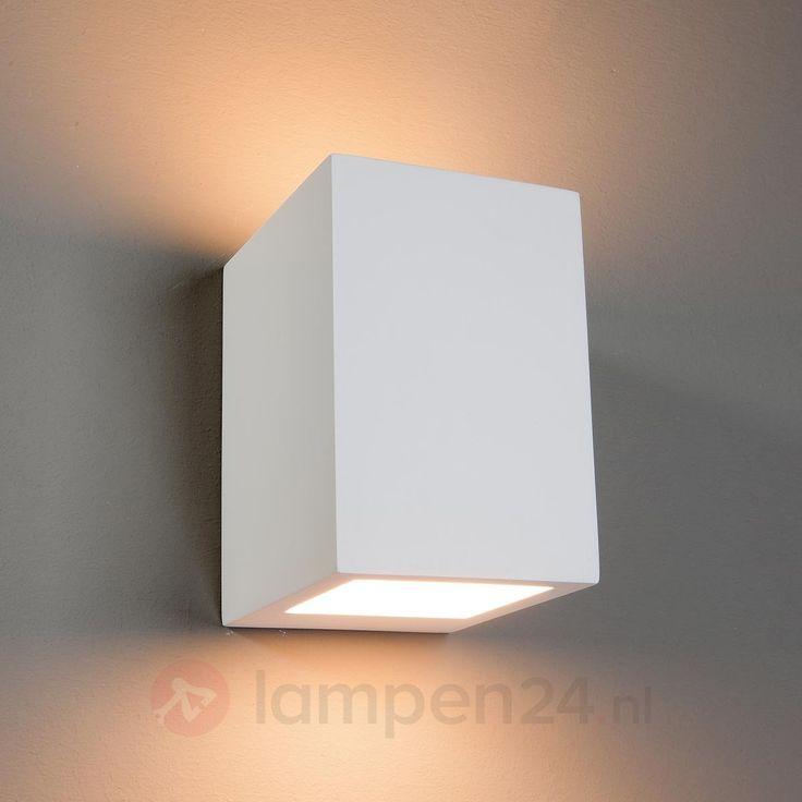 Hoekige halogeenwandlamp Zaio, beschilderbaar veilig & makkelijk online bestellen op lampen24.nl