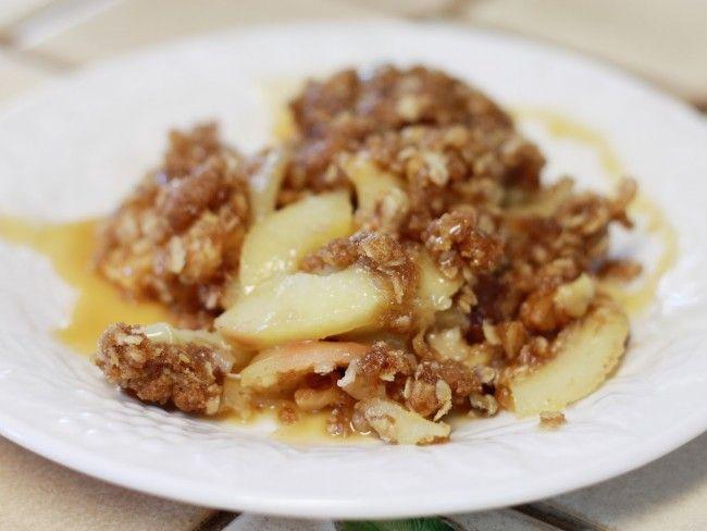 Clean Eating Dessert, gluten free and vegan apple crisp