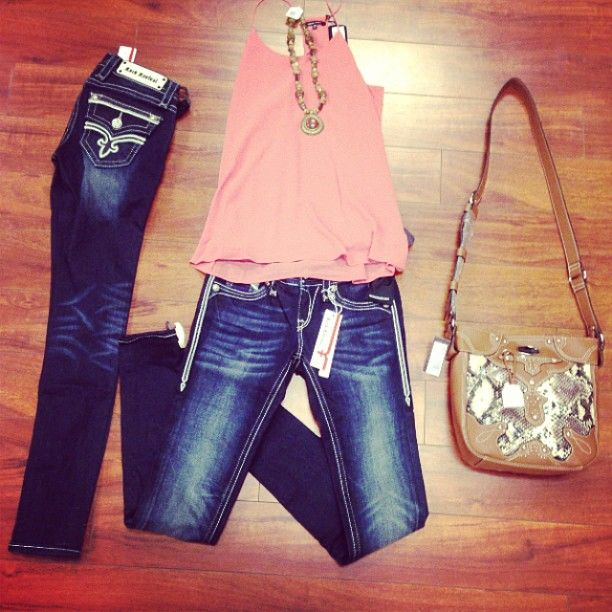 Rock Revival Jeans and Top