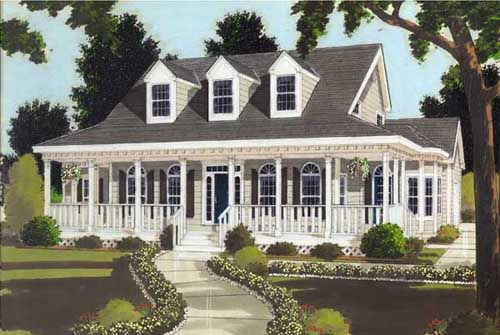 Country Style House Plans - 2653 Square Foot Home , 2 Story, 5 Bedroom and 2 Bath, 3 Garage Stalls by Monster House Plans - Plan 43-211
