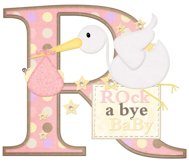 Letter From Baby To Baby Shower Guests: CH.B * *..Alfabeto Bebe...R