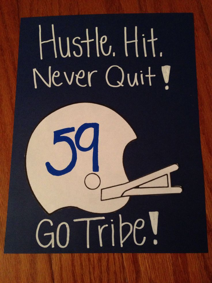 Cute football sign idea