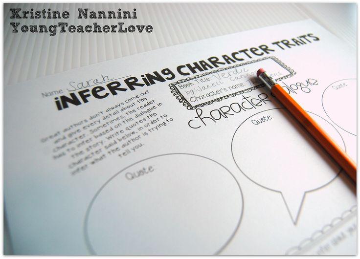 Inferring Character Traits Through Dialogue Mini-Lesson, Anchor Chart (Plus a FREEBIES!)- Young Teacher Love Blog