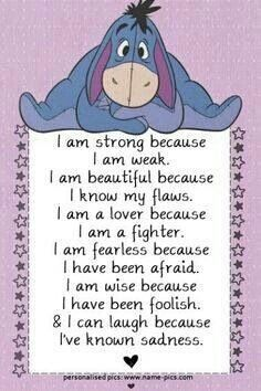I am strong because I am weak....