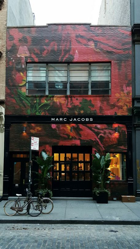 "MARC JACOBS,163 Mercer Street, Soho,New York, ""A Floral Affair"", pinned by Ton van der Veeri"