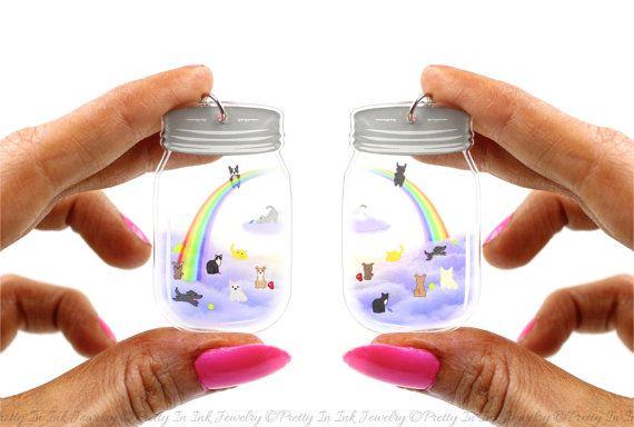 Cielo en un tarro el puente del arco iris por PrettyInInkJewelry
