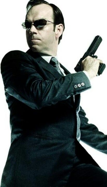 Re-pinner says: One of the best movie villains EVER! Hugo Weaving as Agent Smith in The Matrix trilogy.