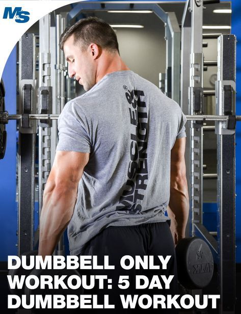 This 5 Day Dumbbell Only Workout Program Only Requires Dumbbells And Is Perfect For Those Lo Ng To Build Lean Muscle Mat Home Or On The Go