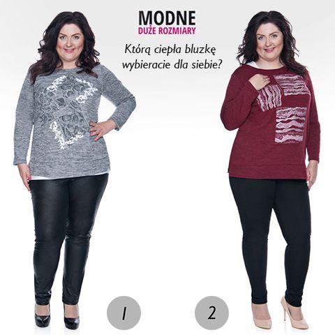 Szukacie ciepłej bluzki? Zobaczcie i oceńcie dwie nowe :D Którą wybierzecie dla siebie? ;) Śmiało wpisujcie cyfrę 1 (melanżowa z aplikacją) lub 2 (bordowa w kwadraty) (y) Obie uszyte z przyjemnego dla ciała materiału i ozdobione dżetami 💎  1 ▶️ http://bit.ly/2gxqbeS 2 ▶️ http://bit.ly/2gIH9HM Wszystkie bluzki ▶️ http://bit.ly/1HZv8n0