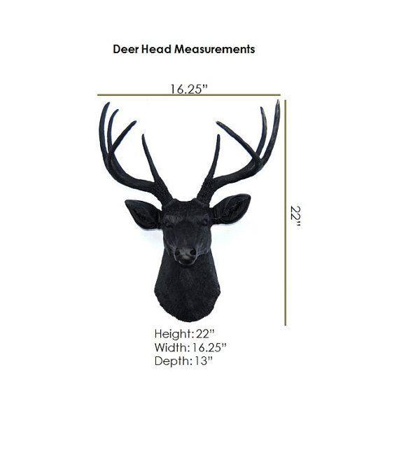 White and Bronze Faux Deer Head Deer Head Antlers by NearAndDeer