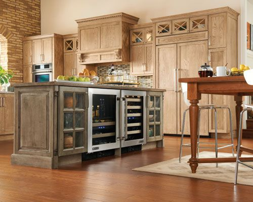 fantastic mix of finishes gives this kitchen texture httpwwwmedallioncabinetry