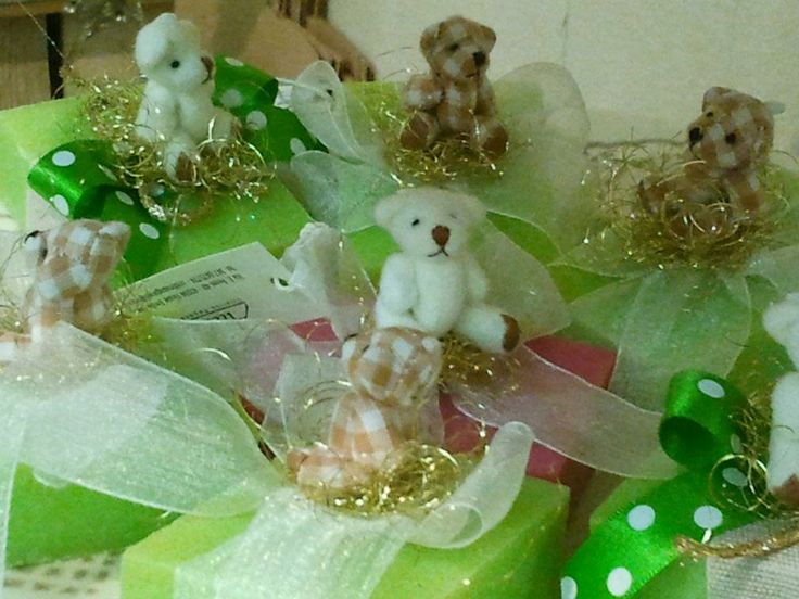 """SOAP DECORATED WITH ORGANZA RIBBON AND LITTLE """"DOU DOU"""""""