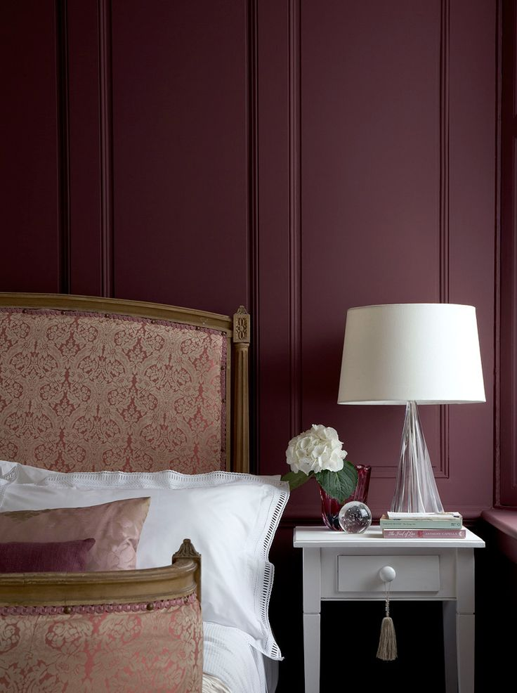 25 beste idee n over aubergine kleur op pinterest aubergine slaapkamer sl - Farrow and ball bordeaux ...