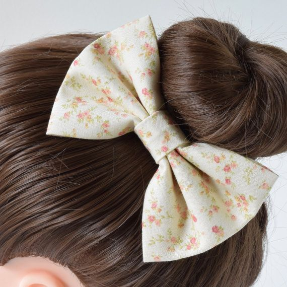 asimplebow.com  Floral Fabric Hair Bow for Teens  Hair Bows for by ASimpleBow