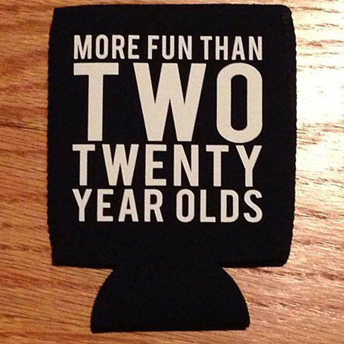 Buy 40th Birthday Party Koozies Holds Beer Water or Soda Party ...