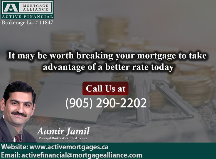 Find Out Whether Or Not Your Interest Rates Are Too High And Whether It's Worth Breaking Your Mortgage To Take Advantage Of Best Mortgage Rates Today. For Contact: ActiveFinancial@MortgageAlliance.com or (905) 290-2202 Visit: www.ActiveMortgages.ca #Mortgagealliance #Activefinancial