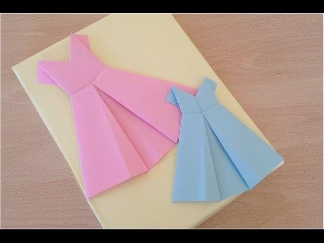 DIY .Украшаем комнату. Картина- платье для модниц из Оригами.