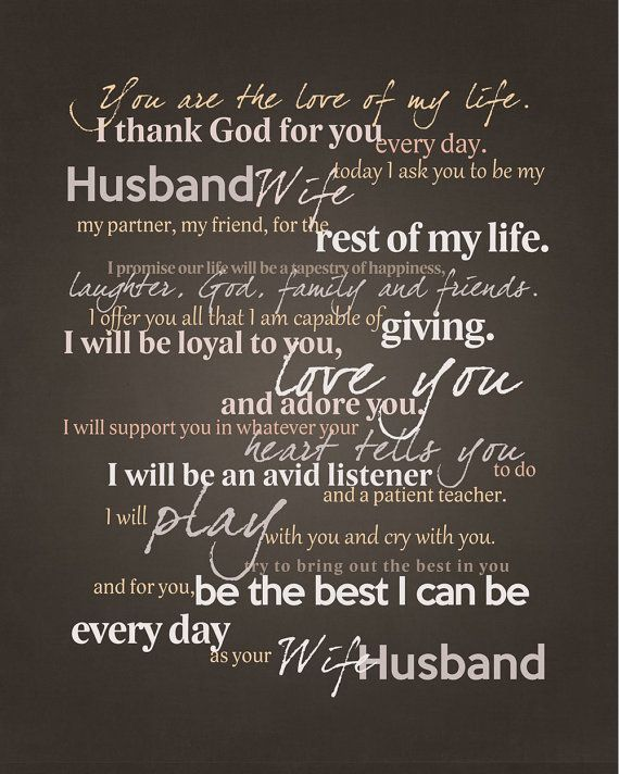 Frame Your Wedding Vows Graphic for Framing by ElemarH. Neat idea!