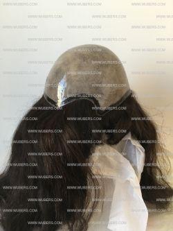 protesi capelli veri donna misura totale intera capelli veri iniettati base silicone modello 1033 by wubers