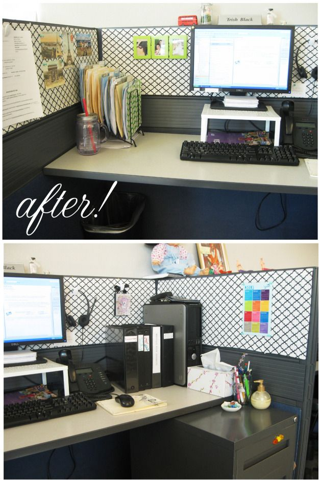 26 best images about work space ideas on pinterest for Cute cubicle ideas