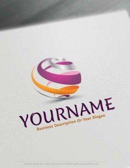 FREE Online Logo Designs Spiral Globe online Logo