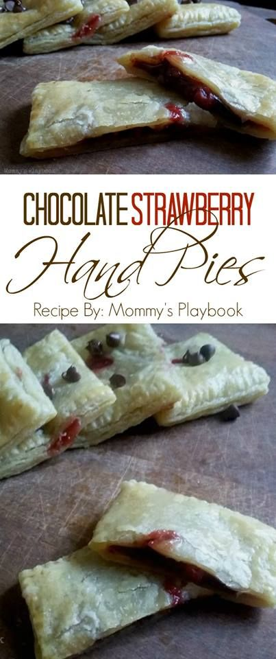 Put the plates and forks away and enjoy your dessert on the go with these delicious Chocolate Strawberry Hand Pies. #12DaysofPicnic