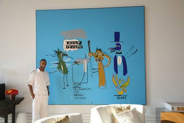 Swizz Beatz, 2008  Kany  West have  lot  of  paintigs  from Jean-Michel Basquiat