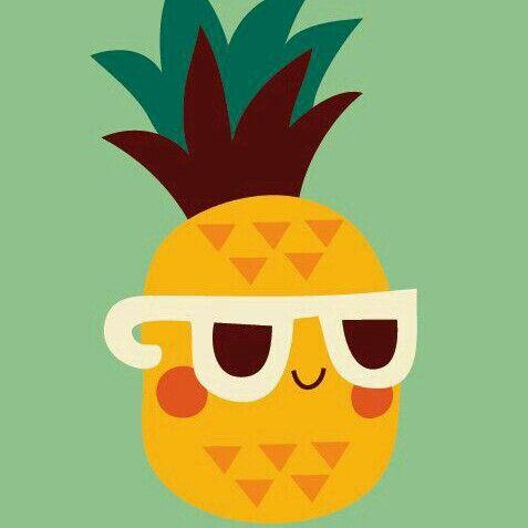 Solo soy una piña con lentes sigueme y te seguire Soy una piña feliz