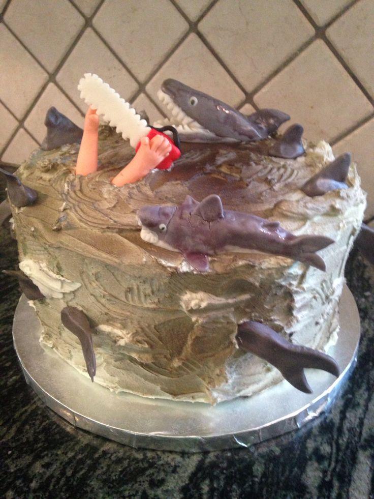 Sharknado cake