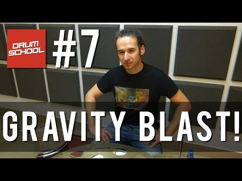 Drum School # 7 - GRAVITY BLAST! One handed roll, Freehand Technique - lekcje gry na perkusji - YouTube