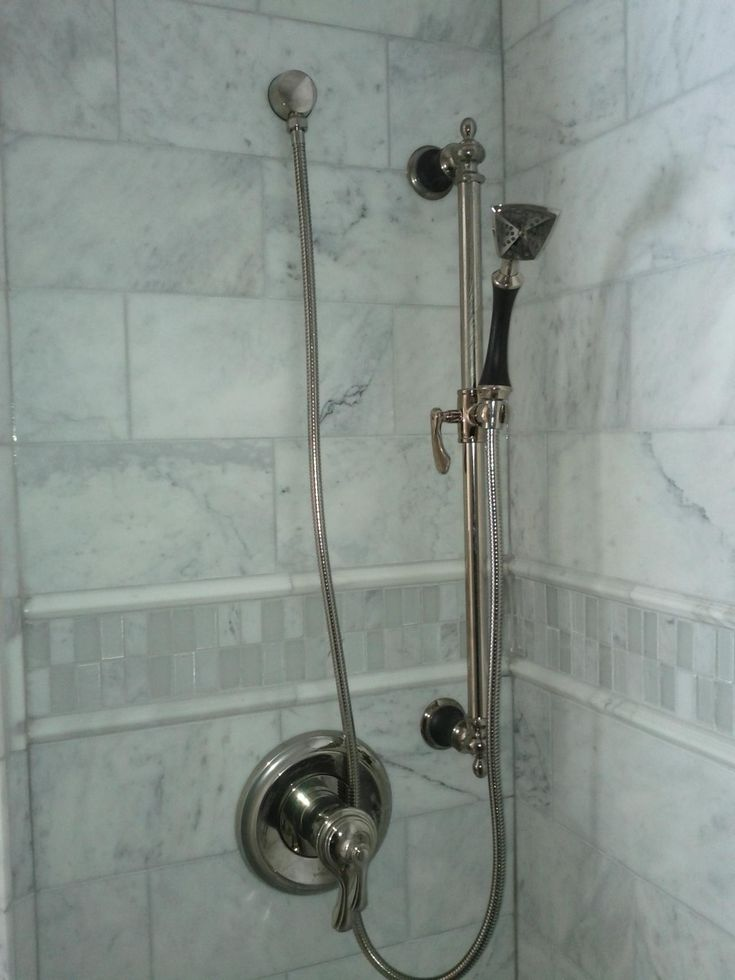 the amazing ideas that can make your bathroom an ideal place are all can be take in the marble shower tile gallery