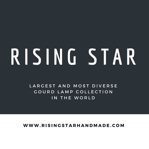 Rising Star Handmade are makers of gourd lamps with 30 year history. We claim largest and most diverse gourd lamp collection globally. Gourd art is our passion