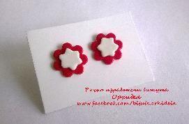 Мартеничките могат да бъдат в най-различни форми, ние ви предлагаме обички в червено и бяло :)