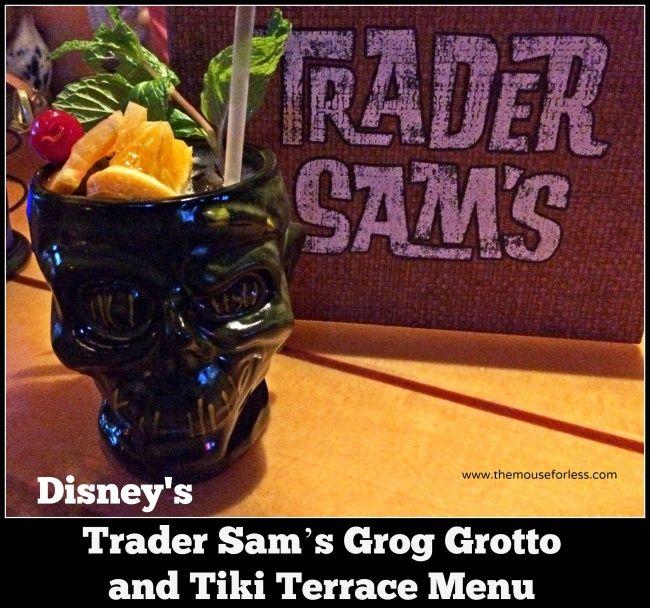 Disney World Food , Drinks, and Restaurants | Trader Sam's Grog Grotto and Tiki Terrace at Disney's Polynesian Village Resort  - review