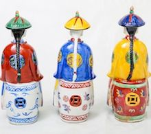Sitting Chinese Wise Men. Porcelain.  Visit our online showroom for this and other items.